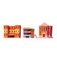 kindergarten school and university buildings set vector image vector image
