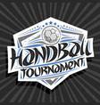 logo for handball tournament vector image