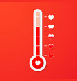 love thermometer valentines day card element vector image
