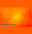 low poly geometric background orange mosaic vector image vector image