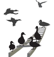 Mallard on a ladder vector image vector image