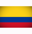 National flag of Colombia vector image vector image