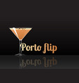 official cocktail icon the unforgettable porto vector image vector image