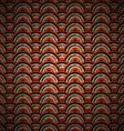 orange circle pattern vector image