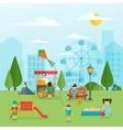 Playground Flat Concept vector image vector image