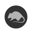 rat symbol vector image vector image
