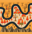 road to the forest in fall season vector image