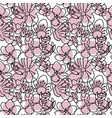 seamless pattern with linear silhouettes pink vector image vector image