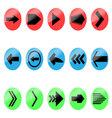 Set arrow color icon vector image