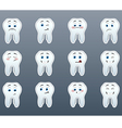 Set of cheerful teeth vector image