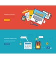 Set of flat design concept icons for web and vector image vector image