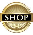 shop gold icon vector image vector image