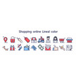 shopping online delivery service concept icon vector image vector image