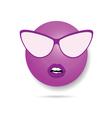 smiley violet vector image vector image