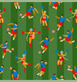 soccer players and cheerleaders girls in russian vector image vector image