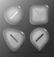 Spirit level Glass buttons vector image vector image
