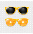 sunglasses set isolated transparent background vector image vector image