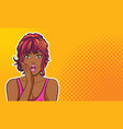 surprised black woman keep a wow vector image vector image