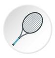 tennis racket icon circle vector image vector image
