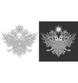 two-headed eagle symbol vector image vector image