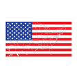 United States flag with map vector image