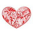 valentines hearts flat and outline vector image