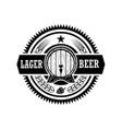vintage beer label design elements for logo label vector image vector image