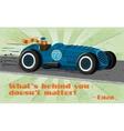 Vintage racing car poster vector image