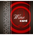 Wine card design vector image vector image