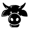 cow head icon simple style vector image