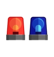 Ambulance Lights Isolated Flashing Warning Sirens vector image