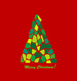 Abstract mosaic Christmas tree vector image vector image