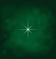abstract star magic light sky bubble blur green vector image vector image