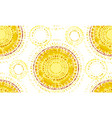 abstract sunny seamless pattern vector image