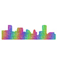 Baltimore skyline silhouette - multicolor line art vector image vector image