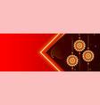 beautiful raksha bandhan festival banner