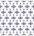 blue and white geometric seamless pattern with vector image vector image