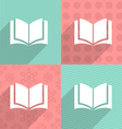 Book icon on colorful backgrounds vector image