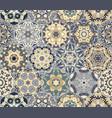 bright seamless pattern of hexagonal tiles vector image vector image