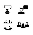 business communication simple related vector image
