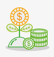 business money economy flat icons vector image