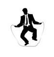 businessman silhouette of a man in a suit and tie vector image vector image