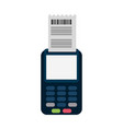 card reader electronic payment vector image