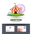 circus logo design template carousel or fair icon vector image