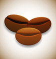 Coffee beans on radial background vector image vector image