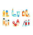 collection cosmetics and household chemicals vector image