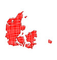 colored denmark map vector image vector image