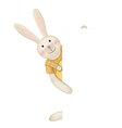 Cute rabbit hiding by blank vector | Price: 3 Credits (USD $3)