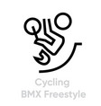 cycling bmx freestyle sport icons vector image