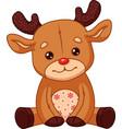 deer toy plush vector image
